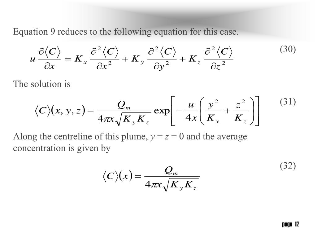 Equation 9 reduces to the following equation for this case.