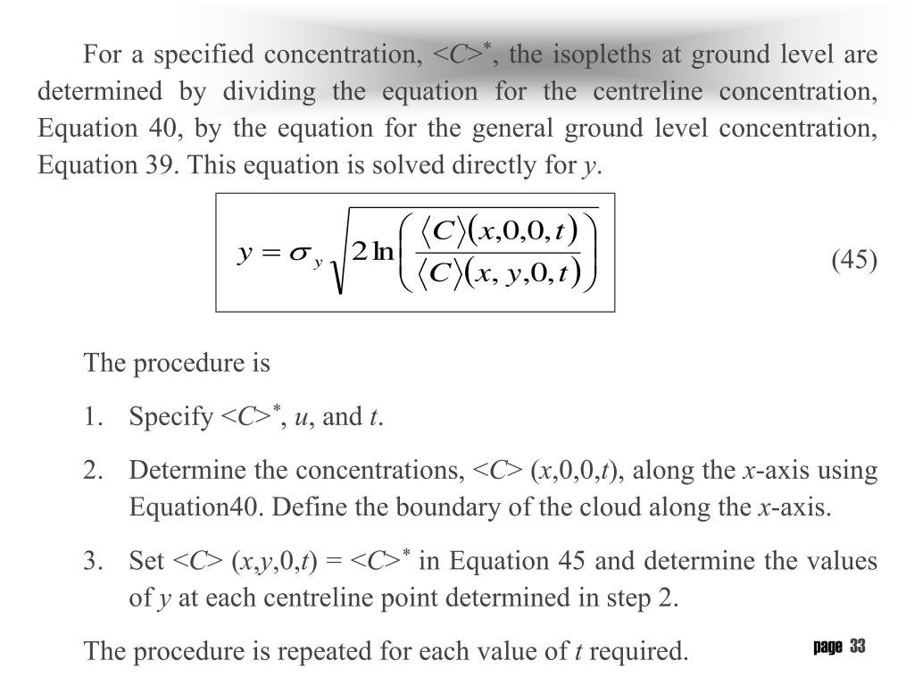 For a specified concentration, <