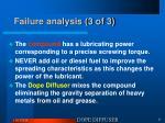 failure analysis 3 of 3