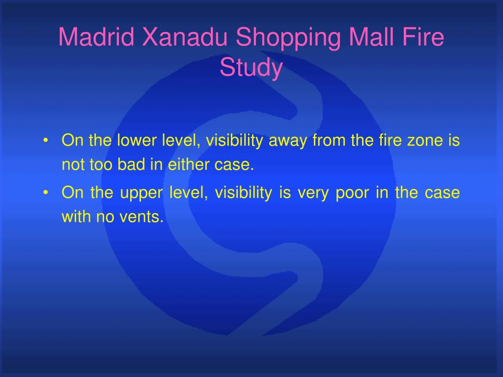 Madrid Xanadu Shopping Mall Fire Study