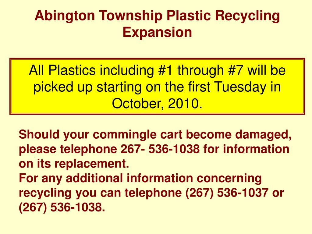 Abington Township Plastic Recycling Expansion