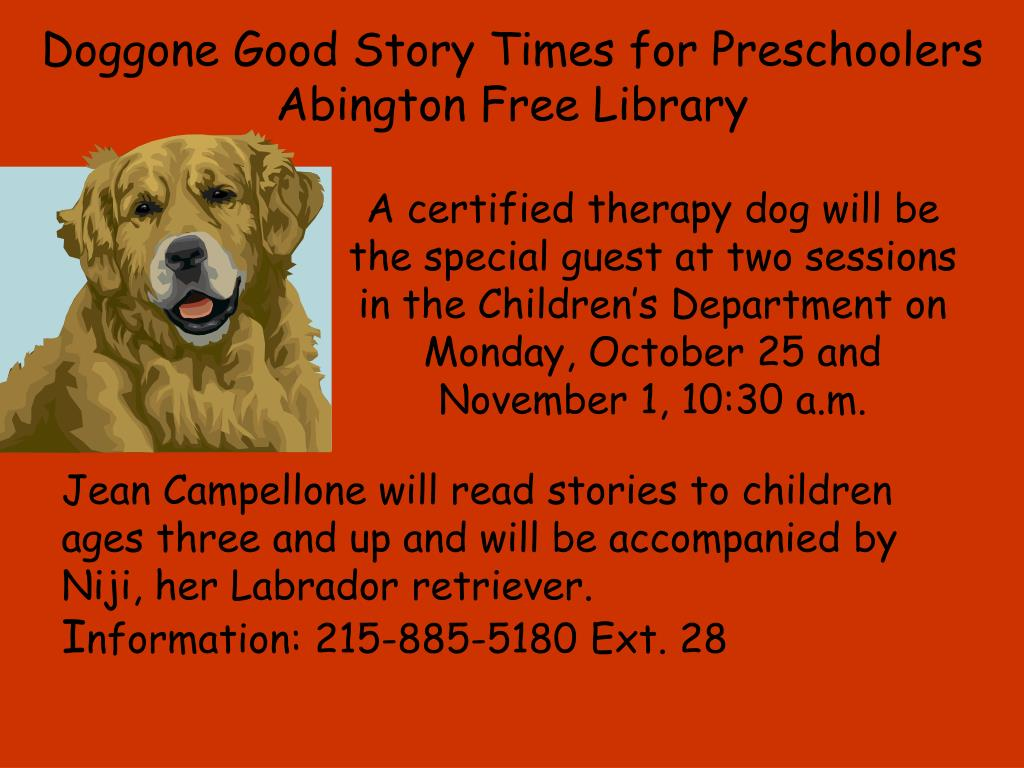 Doggone Good Story Times for Preschoolers