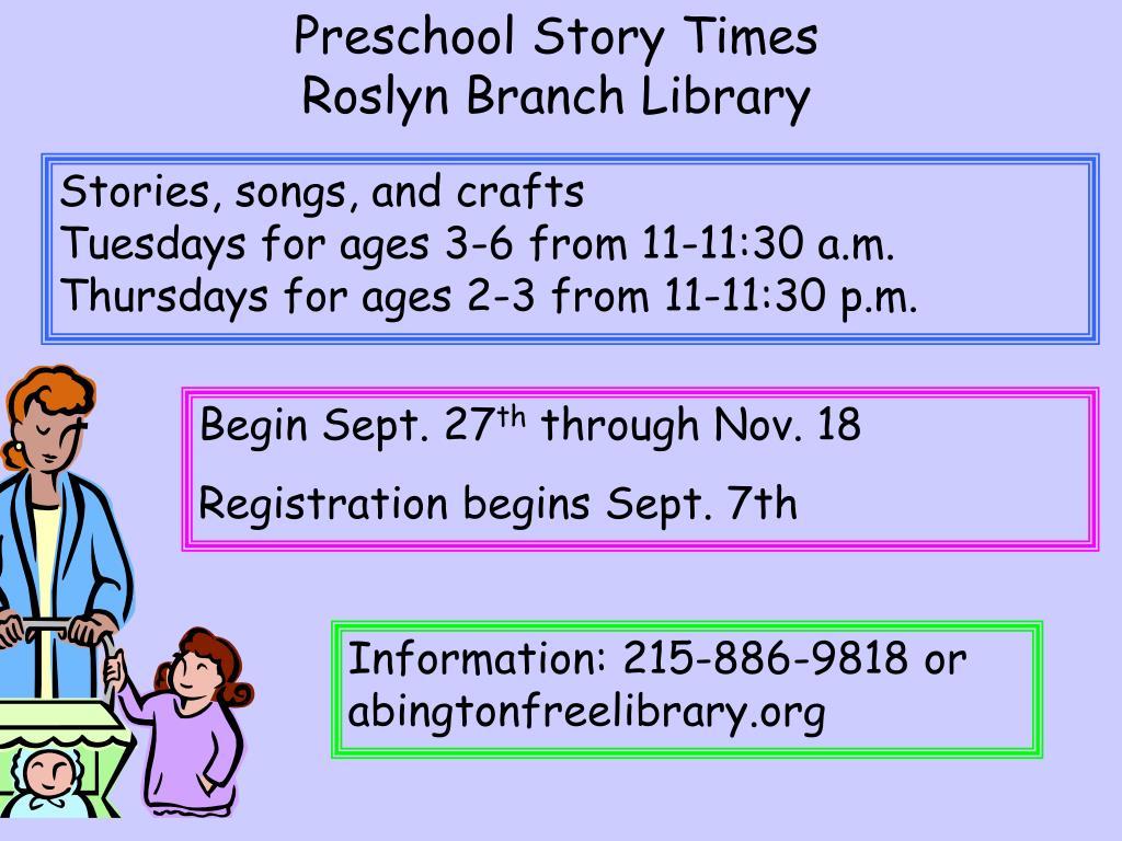 Preschool Story Times