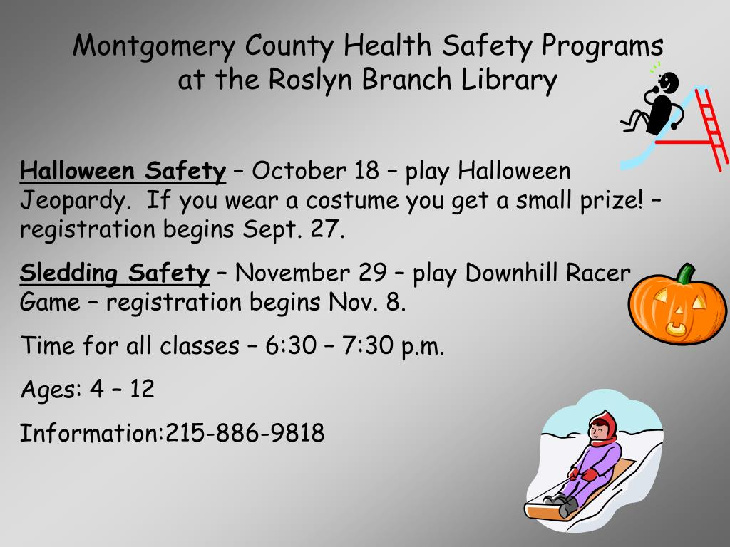 Montgomery County Health Safety Programs