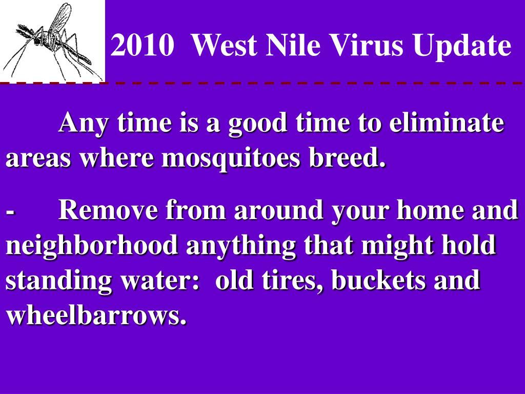 2010  West Nile Virus Update