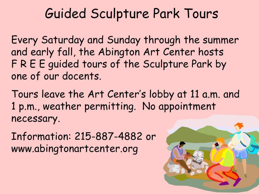 Guided Sculpture Park Tours