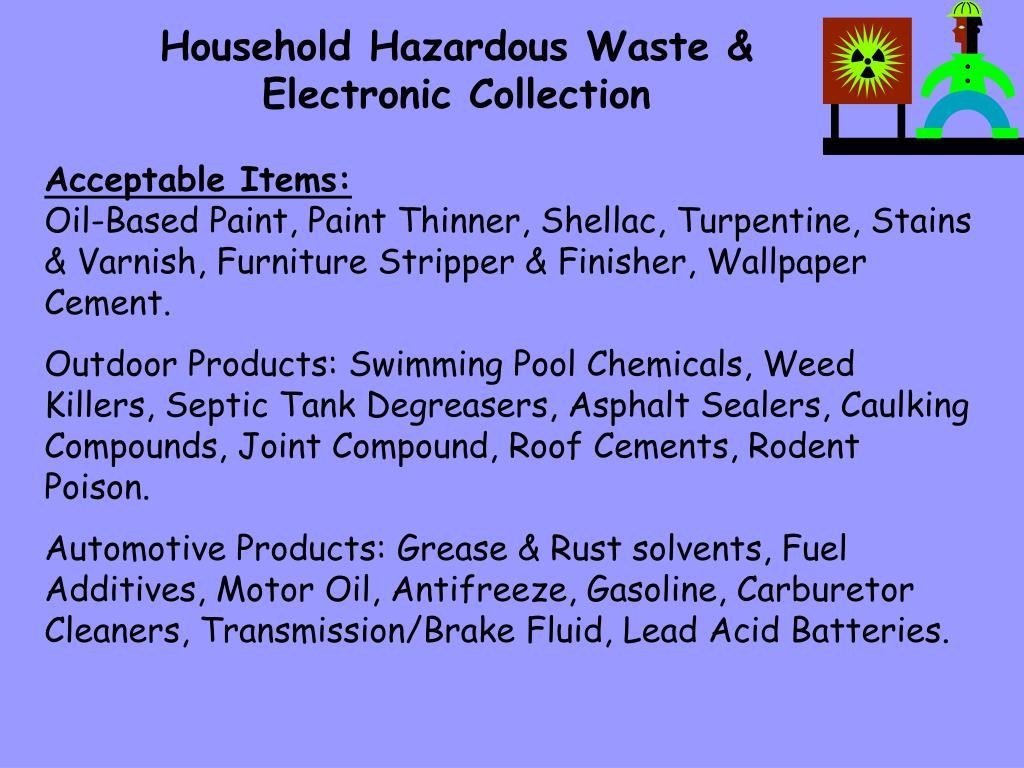 Household Hazardous Waste &