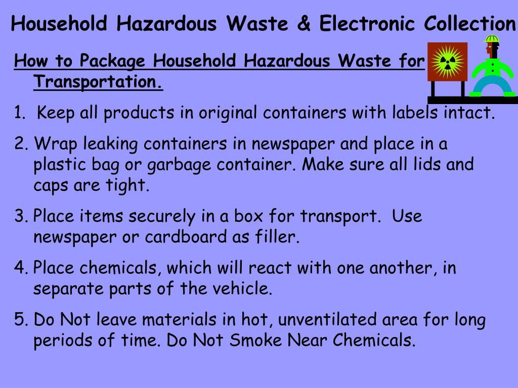 Household Hazardous Waste & Electronic Collection