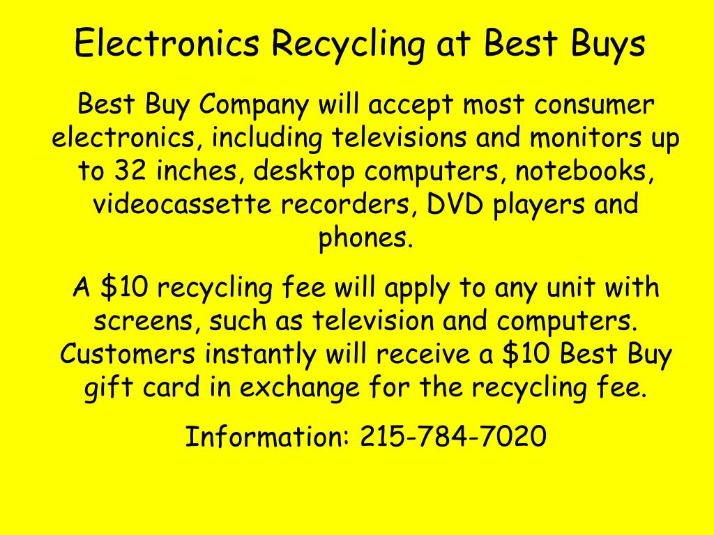 Electronics Recycling at Best Buys