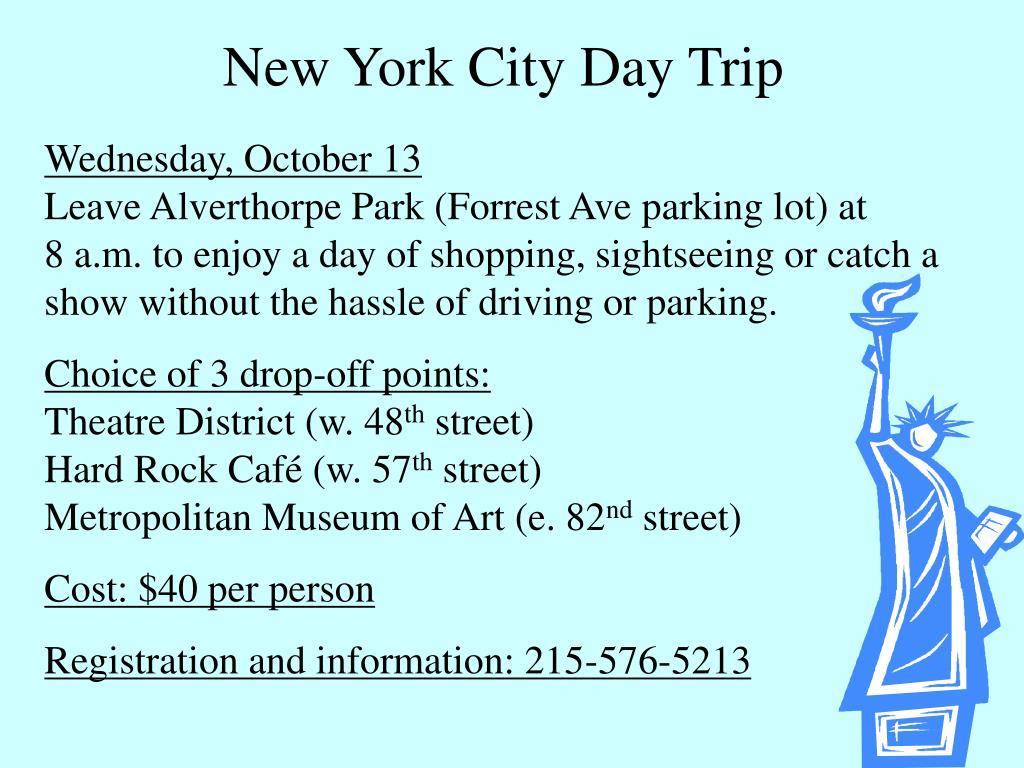 New York City Day Trip