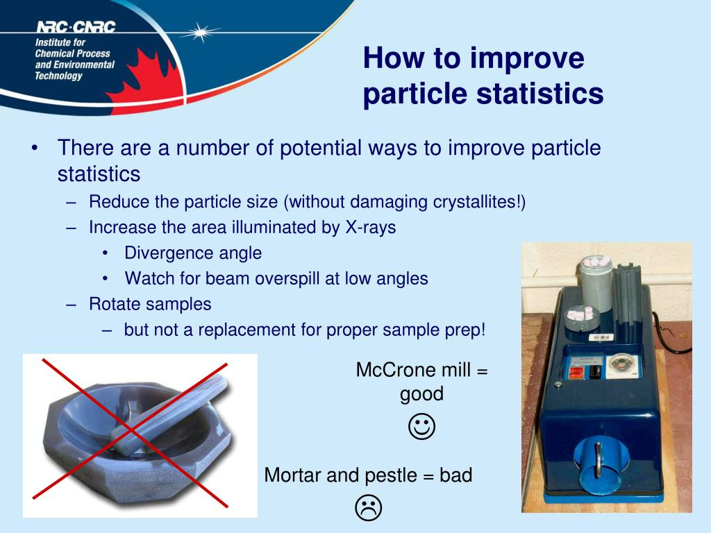 How to improve particle statistics