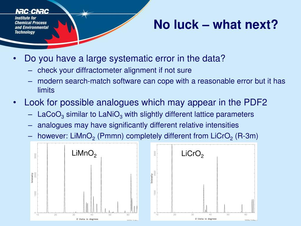 No luck – what next?