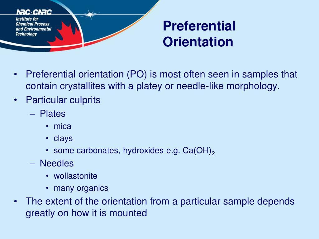 Preferential Orientation
