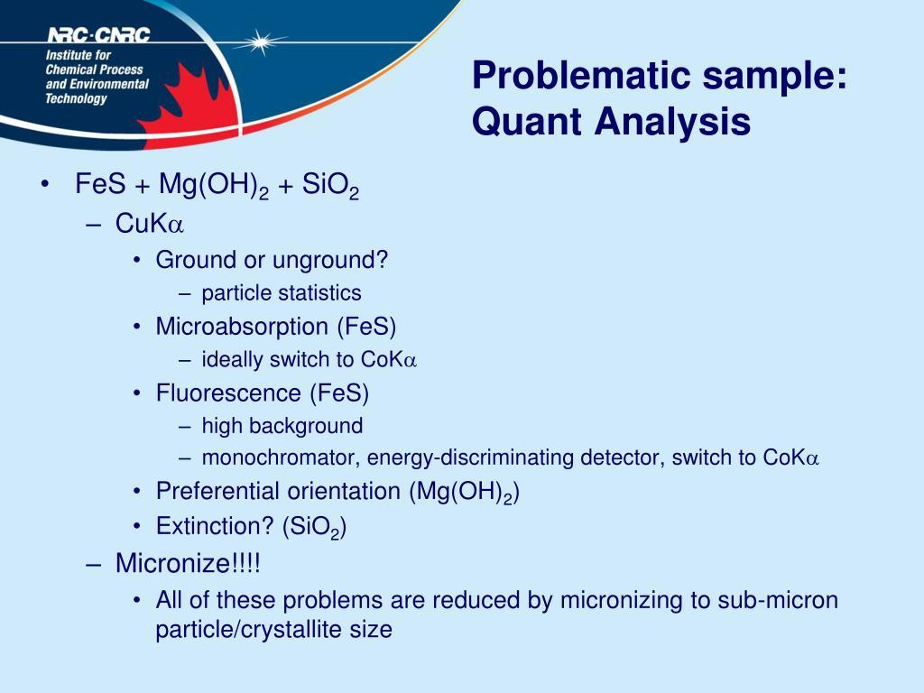 Problematic sample: Quant Analysis