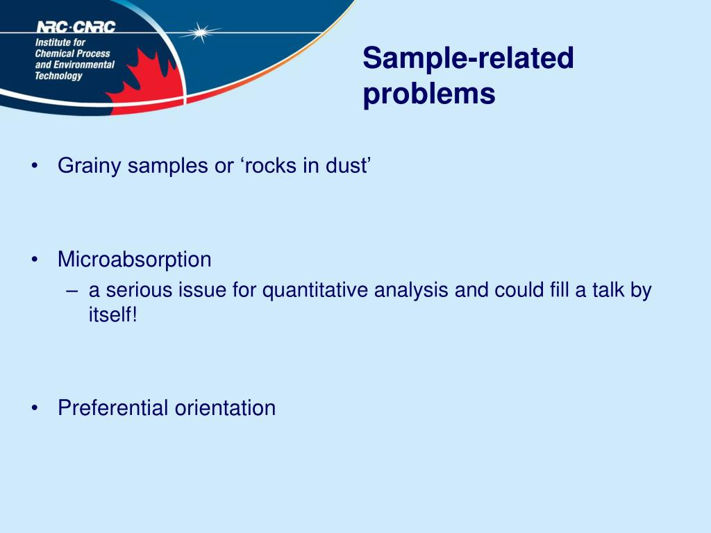 Sample-related problems