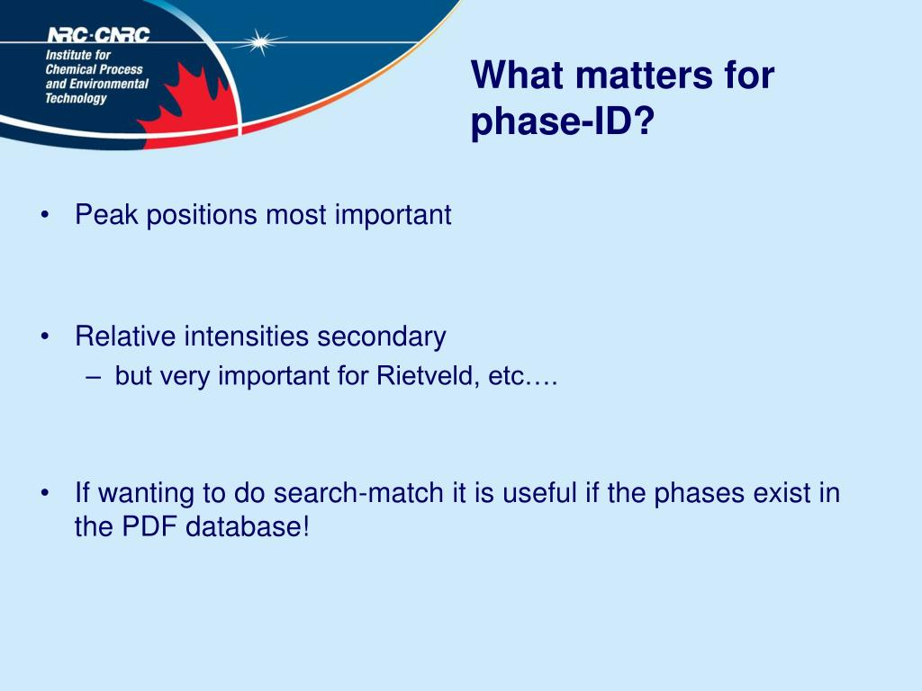 What matters for phase-ID?