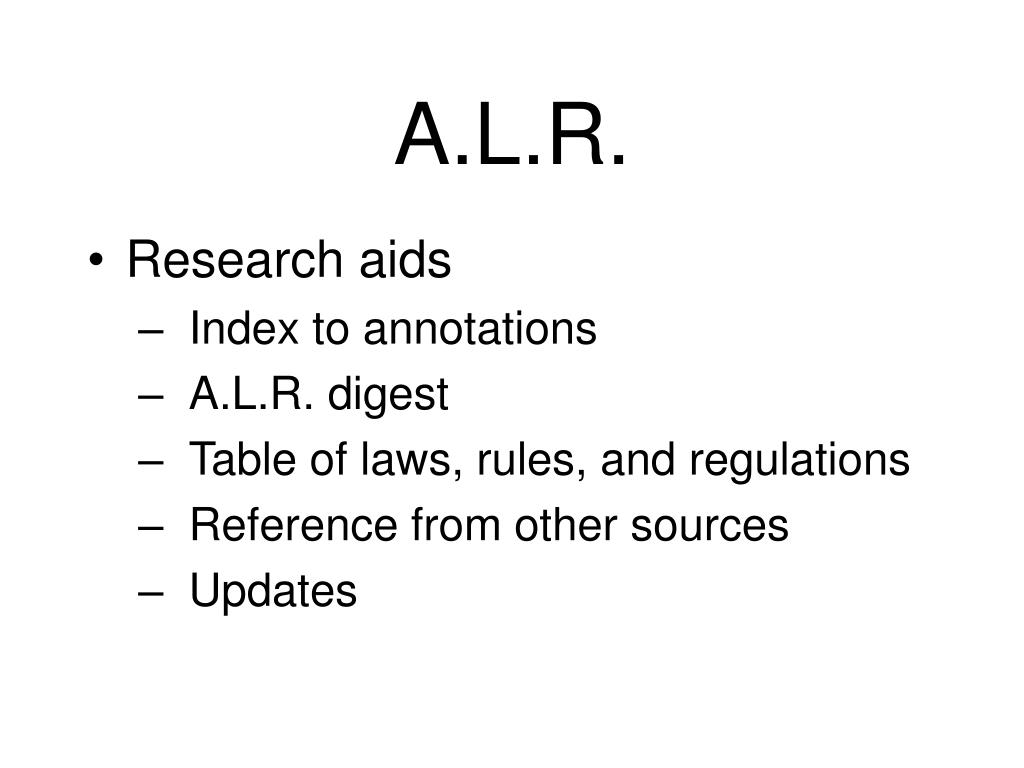 A.L.R.