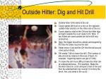 outside hitter dig and hit drill