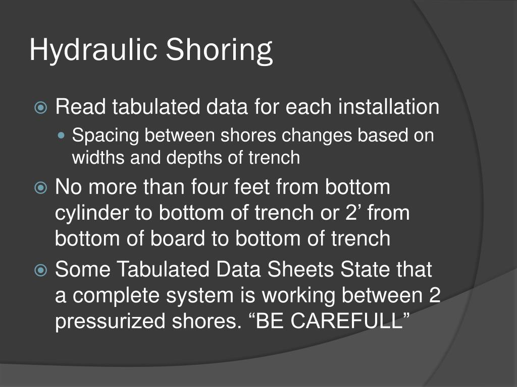 Hydraulic Shoring