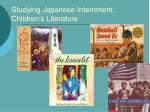 studying japanese internment children s literature