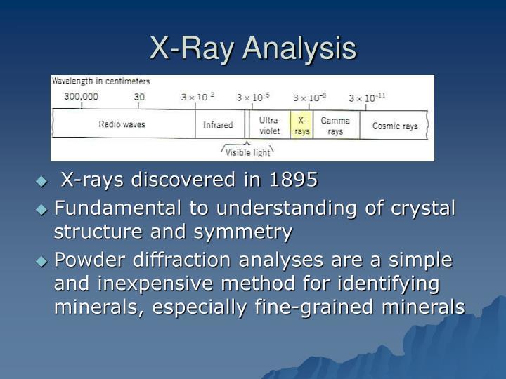 X ray analysis