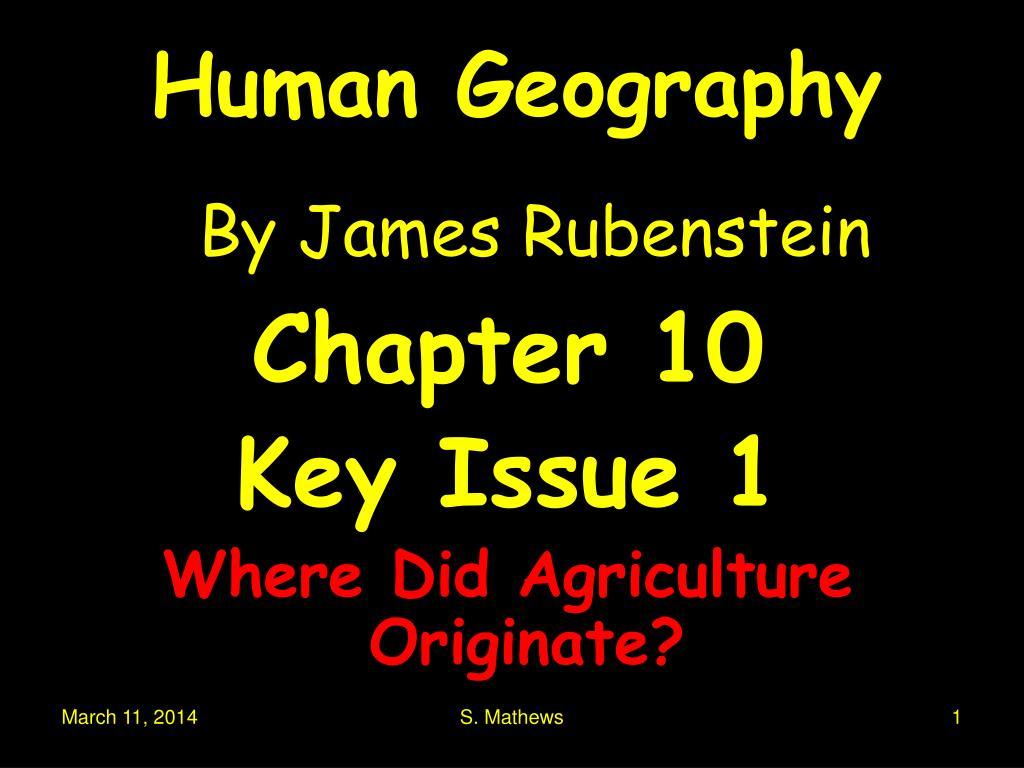 human geography by james rubenstein