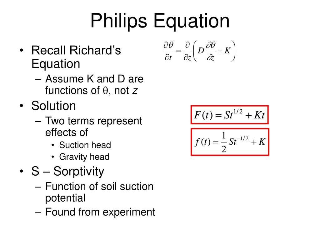 Philips Equation