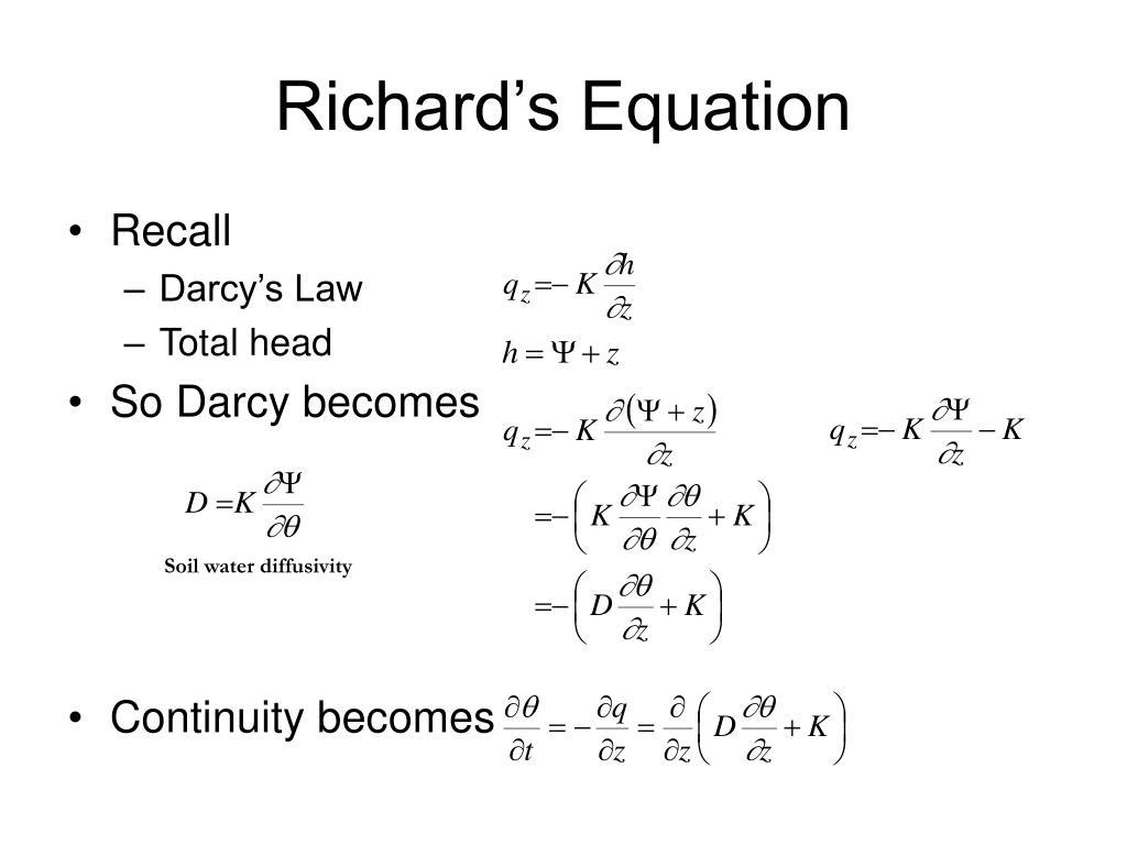 Richard's Equation
