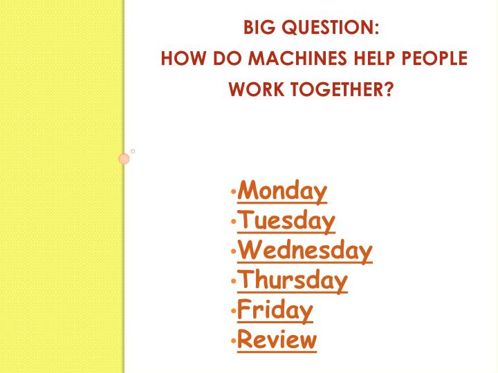 Big question how do machines help people work together2