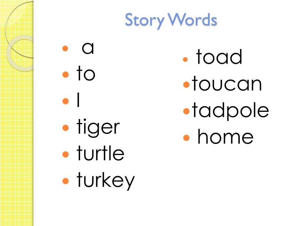 Story Words