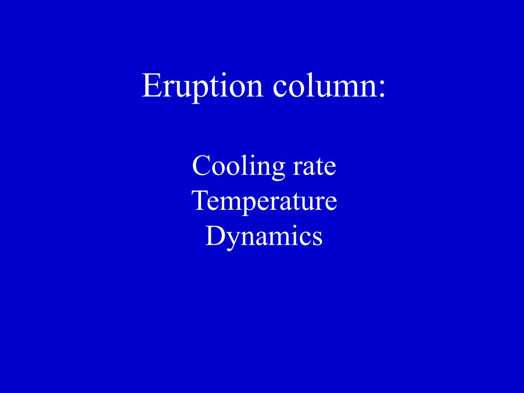 Eruption column: