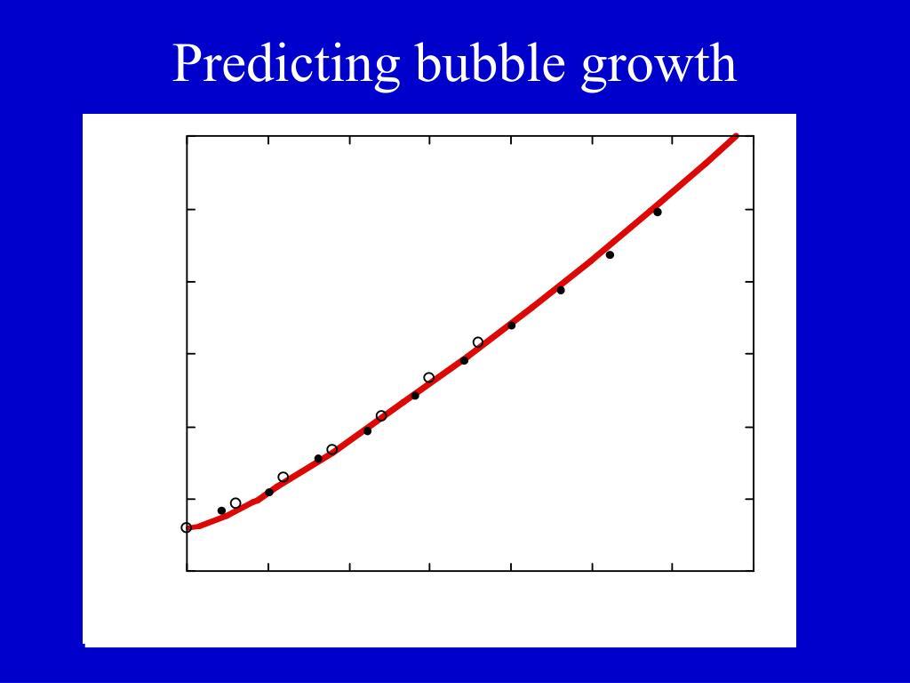 Predicting bubble growth