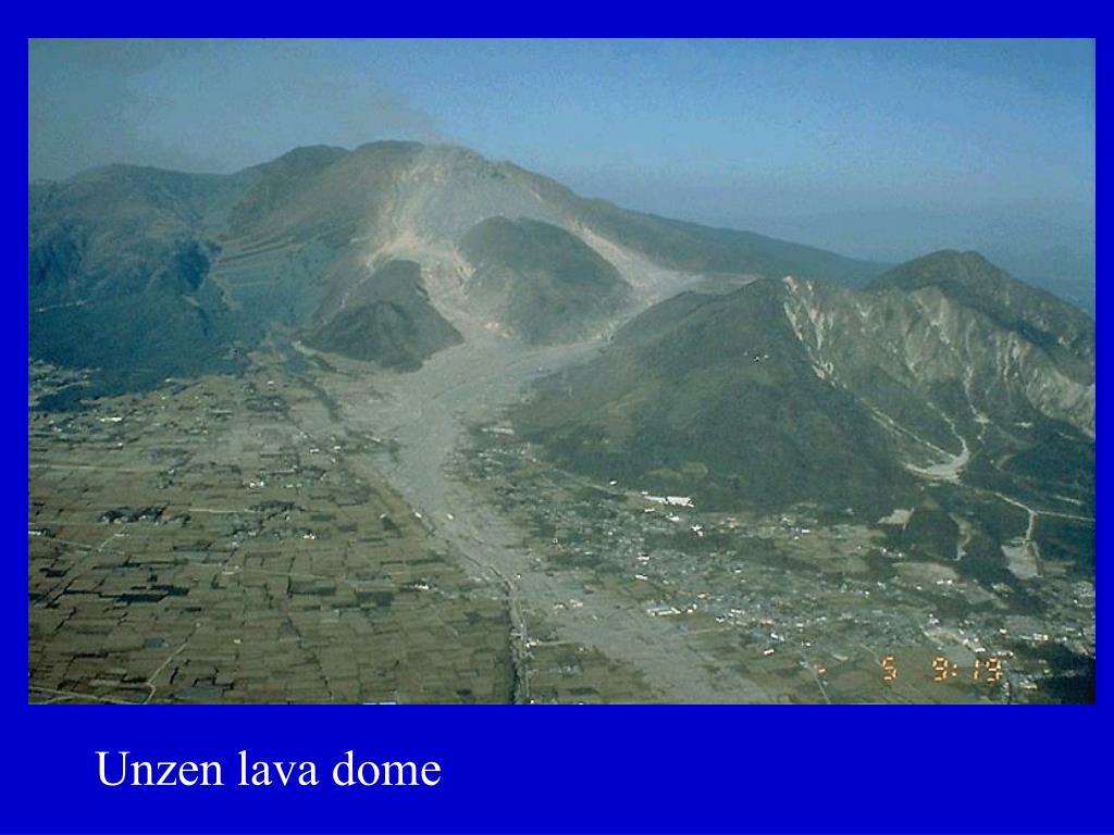 Unzen lava dome