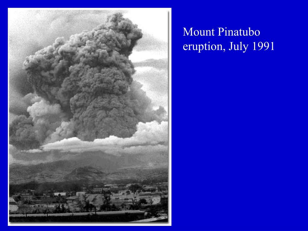 Mount Pinatubo eruption, July 1991