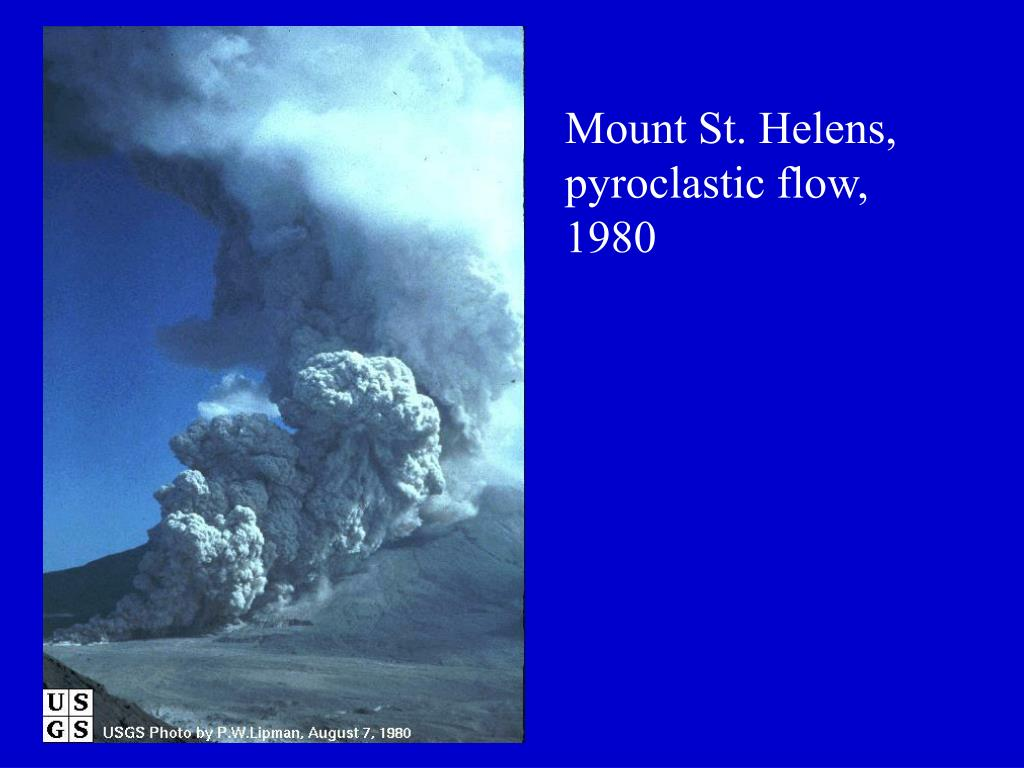 Mount St. Helens, pyroclastic flow, 1980