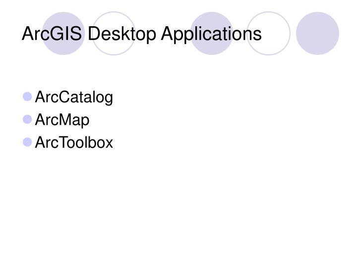 Arcgis desktop applications