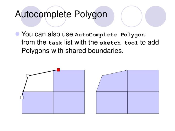 Autocomplete Polygon