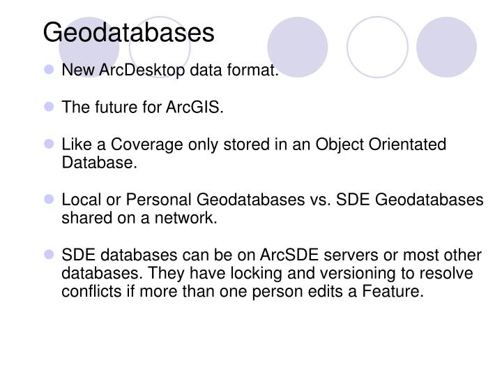 Geodatabases