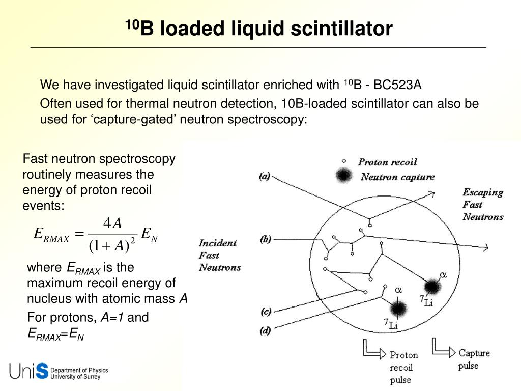 We have investigated liquid scintillator enriched with