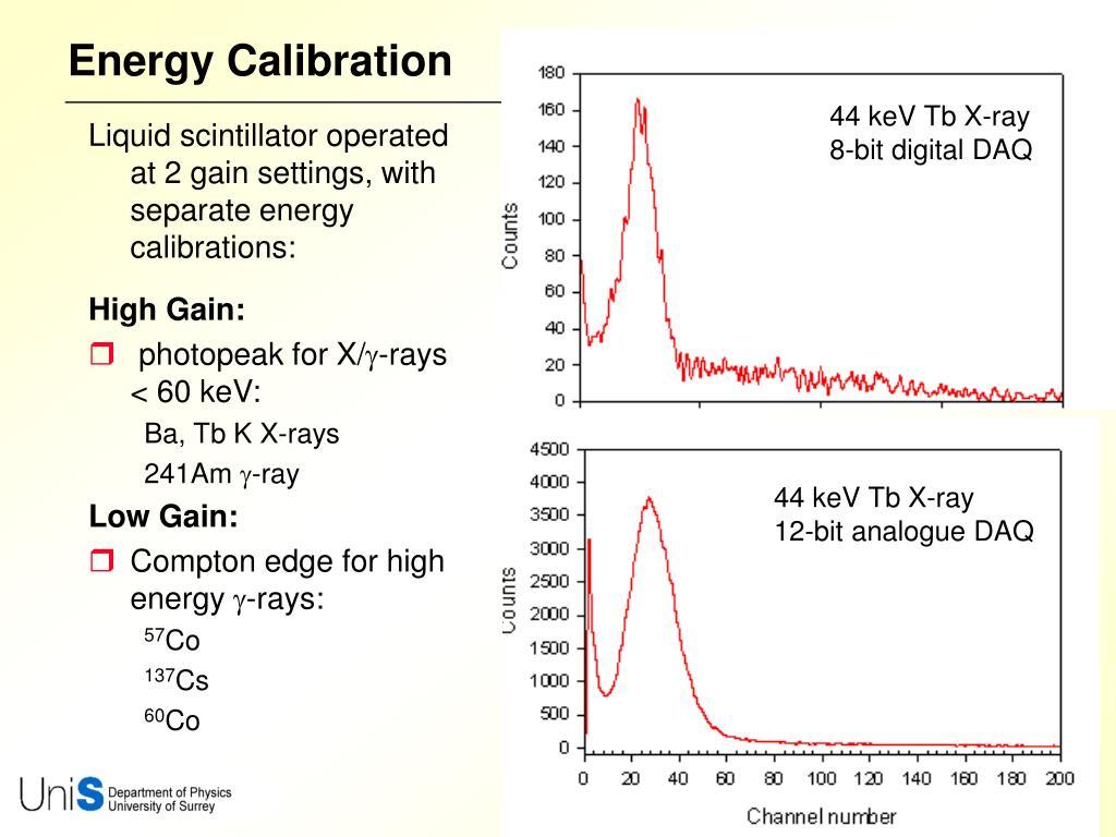 Energy Calibration