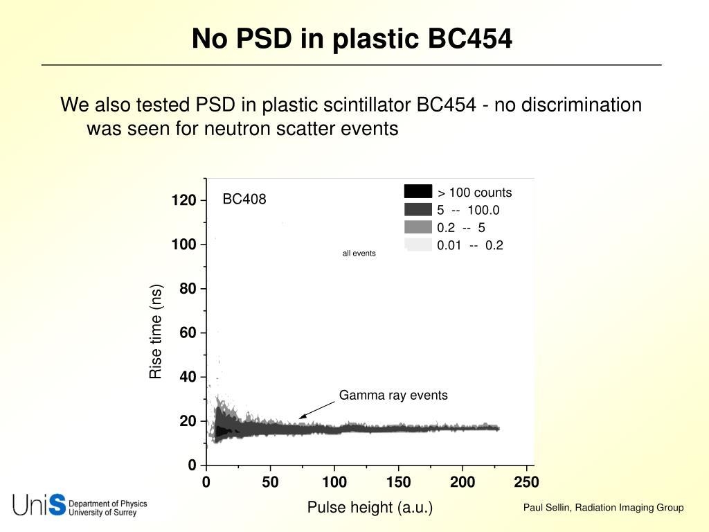 No PSD in plastic BC454