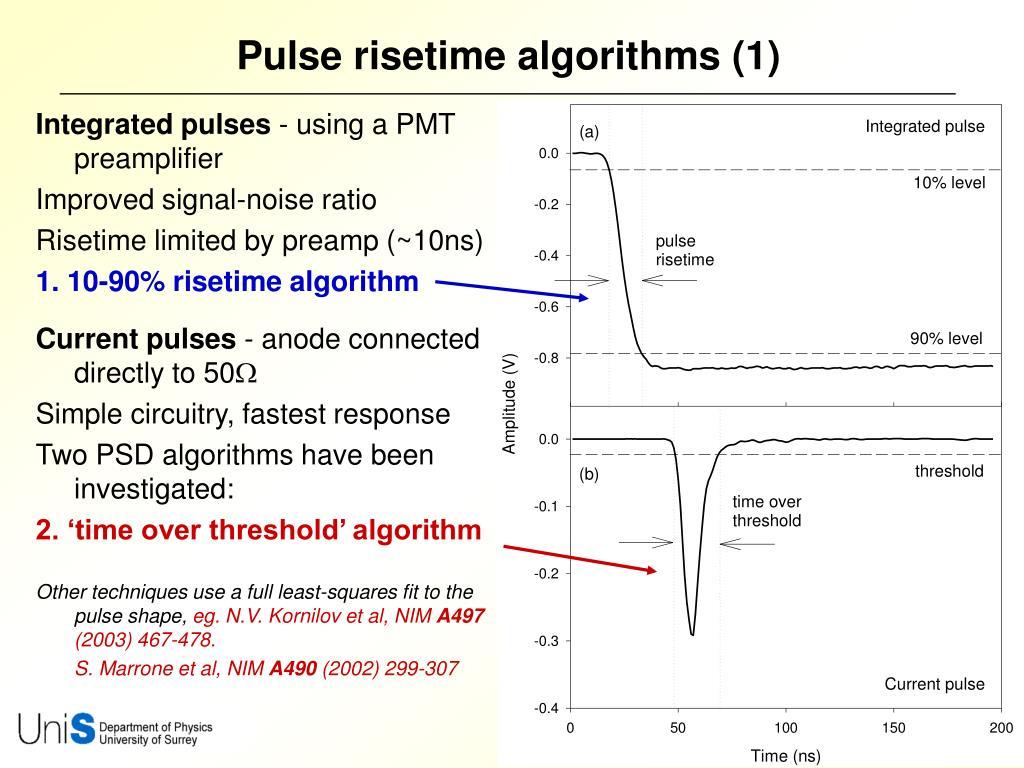 Pulse risetime algorithms (1)