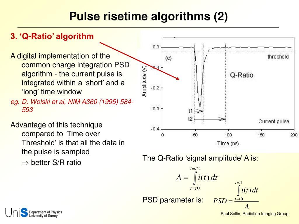 Pulse risetime algorithms (2)