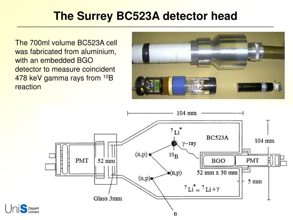 The Surrey BC523A detector head