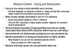 moisture content drying and dessiccation