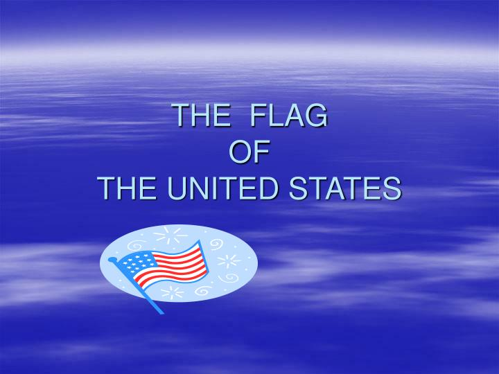 the flag of the united states n.