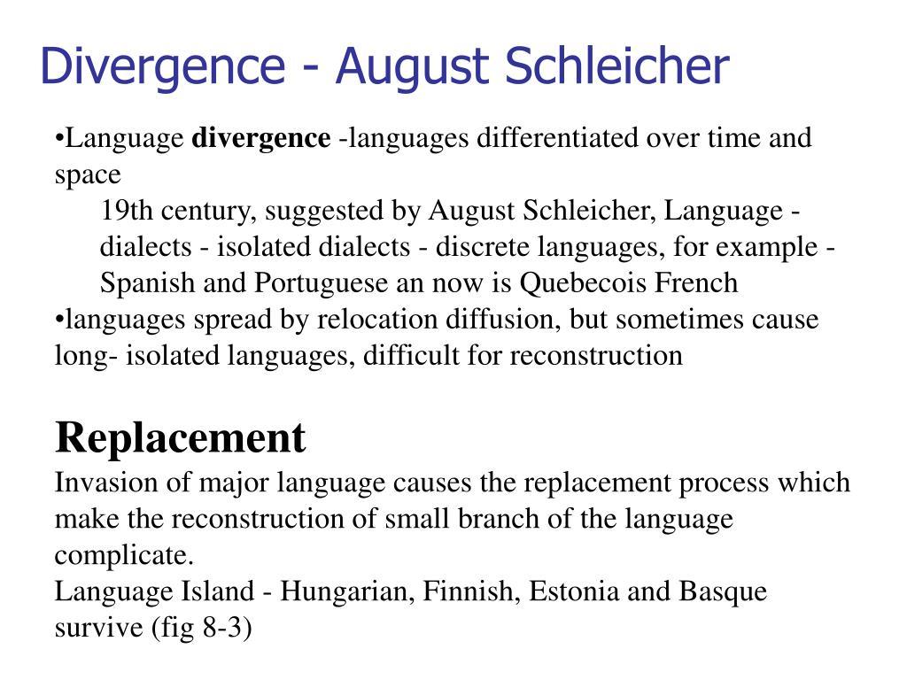 Divergence - August Schleicher