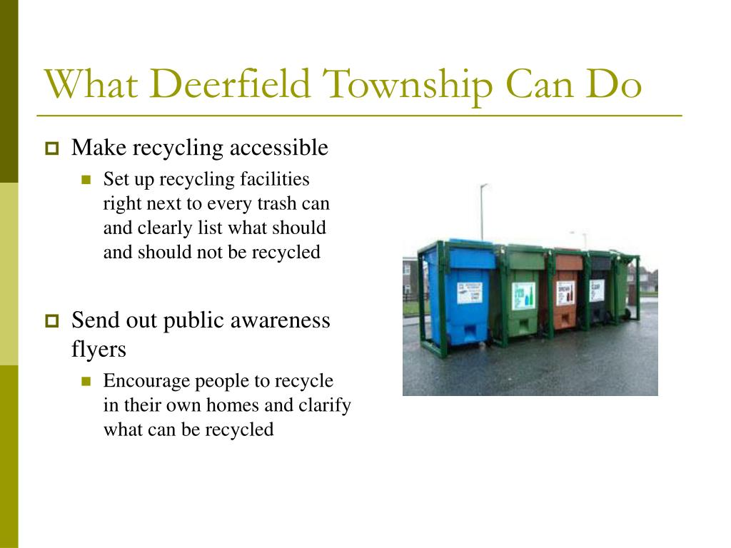 What Deerfield Township Can Do