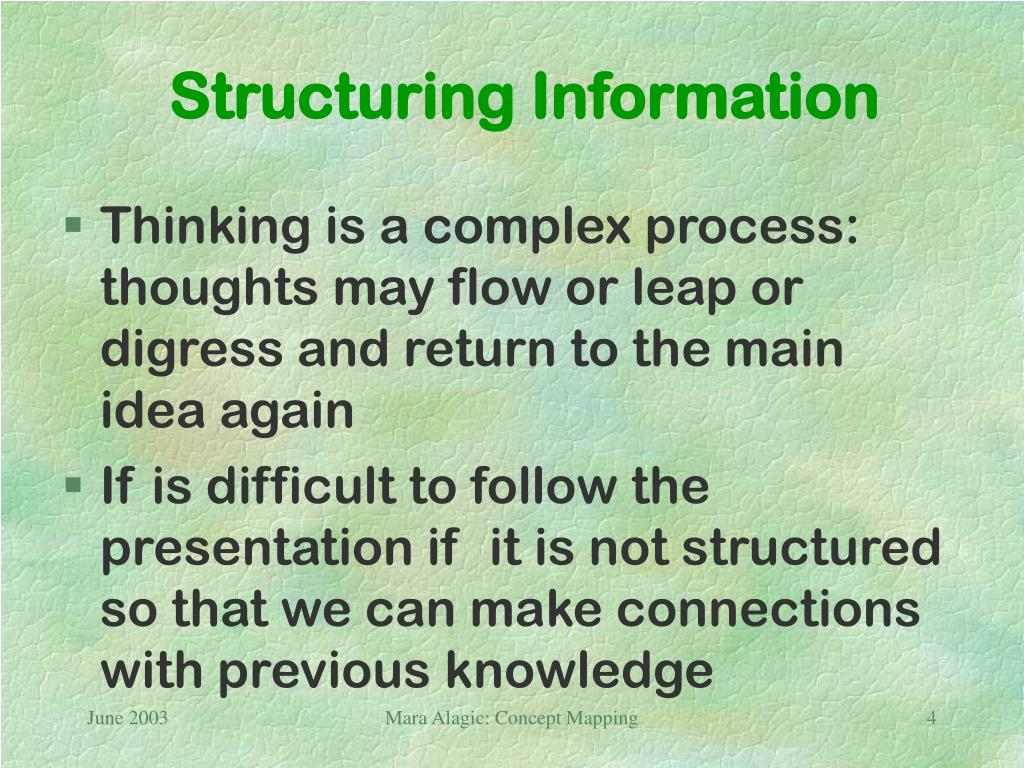 Structuring Information