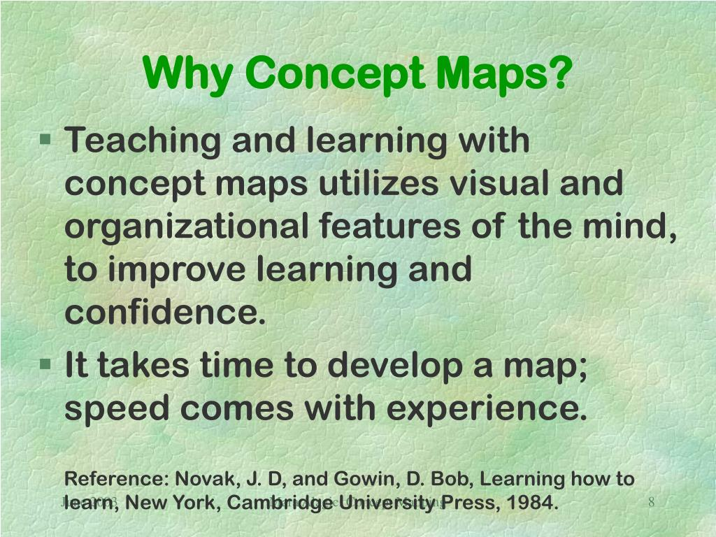 Why Concept Maps?
